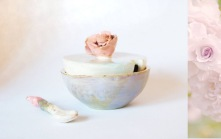 flower bowl and lid