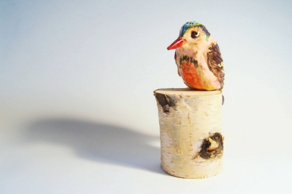 bird ceramic figurine